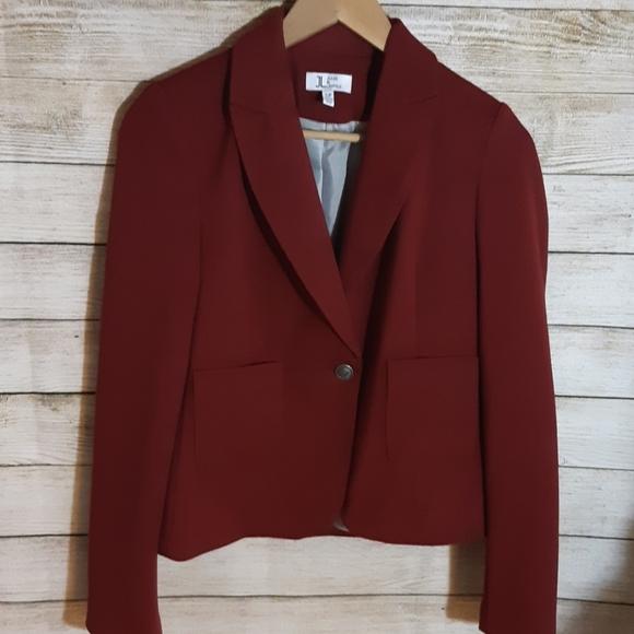 Burgundy/Red Single Button Blazer